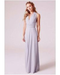 Revie London Alexis Multiway Dress In Dove Gray