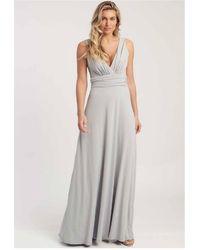 Revie London Lana Maxi Dress In Dove Gray
