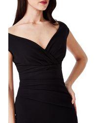 Goddiva Bardot Pleated Jumpsuit - Black