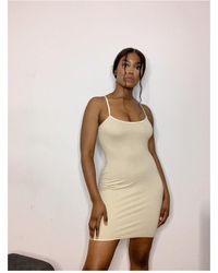 Ms Campbell Cotton Lounge Dress - Natural