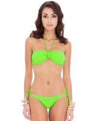 Goddiva Halter Neck Tie Bikini - Green
