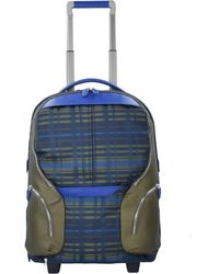 Piquadro , 2-Rollen Rucksacktrolley 53 Cm Laptopfach - Blau