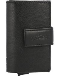 Strellson , Carter C-Two Kreditkartenetui Rfid Leder 7 Cm - Schwarz