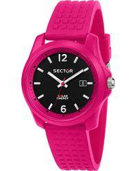 Sector , Quarzuhr 16.5 40mm 3h Black Dial Pink Silicon St - Schwarz