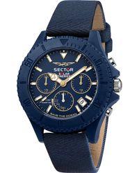 Sector , Chronograph Save The Ocean 44mm Chr Blue Dial Blue S - Blau