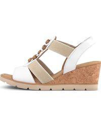 Gabor , Keil-Sandalette - Weiß