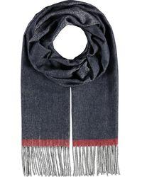 Fraas , Cashmink®-Schal Mit Fransen - Made In Germany - Blau