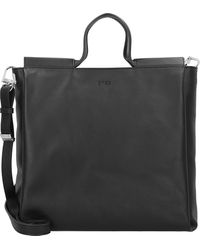 Bree , Pure 9 Handtasche Leder 34 Cm - Schwarz