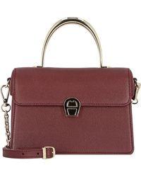 Aigner , Genoveva Handtasche Leder 21 Cm - Rot