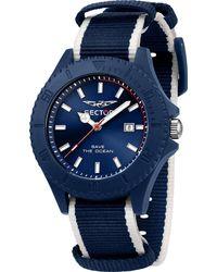 Sector , Quarzuhr Save The Ocean 43mm 3h Blue Dia Blu+wh S - Blau