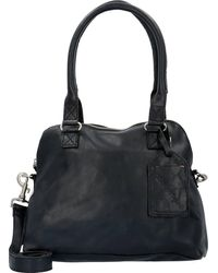 Cowboysbag , Bag Carfin Schultertasche Leder 36 Cm - Schwarz