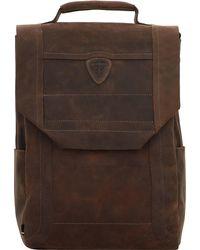 Strellson , Hunter Rucksack Leder 42 Cm Laptopfach - Braun