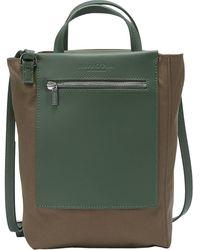 Marc O'polo , Shopper Aus Canvas-Qualität Mit Leder-Details - Grün