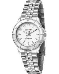 Sector , Quarzuhr 230 32mm 3h White Dial Bracelet Ss - Mettallic