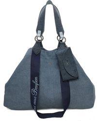Fritzi aus Preußen , Izzy Shopper Tasche 45 Cm - Blau