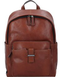 Strellson , Sutton Rucksack Leder 39 Cm Laptopfach - Braun