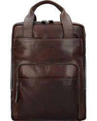 Strellson , Coleman 2.0 Rucksack Leder 40 Cm Laptopfach - Braun