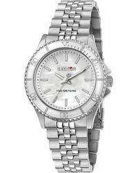 Sector , Quarzuhr 230 35mm 3h White Mop Dial Bracelet Ss - Mettallic