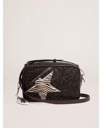Golden Goose Star Bag ブラックグリッター&ゼブラ柄ポニースキンスター