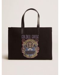 Golden Goose ビンテージプリント/ブラックcaliforniaイースト・ウェストバッグ