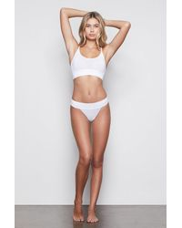 GOOD AMERICAN Medium Impact Banded Thong - Multicolor