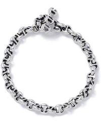 Hoorsenbuhs Open-link Sterling Silver Bracelet - Metallic