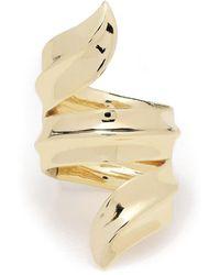 Jennifer Fisher Gold-plated Palm Ring - Metallic