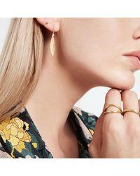 Jennifer Meyer Hammered 1 Marquise Drop Earrings - Metallic