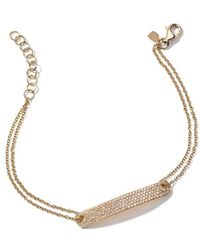 Anne Sisteron - Diamond Id Yellow-gold Bracelet - Lyst