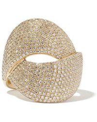 Anne Sisteron - Diamond Luxe Twist Yellow-gold Ring - Lyst