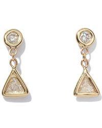 Jacquie Aiche - Trillion Diamond Drop Stud Earrings - Lyst