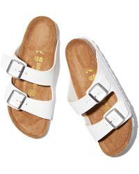 Birkenstock - Arizona Double Banded Buckle Slide On Sandals - Lyst