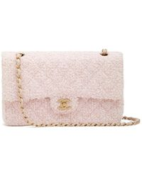 """What Goes Around Comes Around - Chanel Pink Tweed Bag 2.55 10"""" - Lyst"""