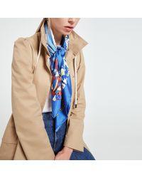 What Goes Around Comes Around - Hermès Blue De Selvia Scarf 90 - Lyst