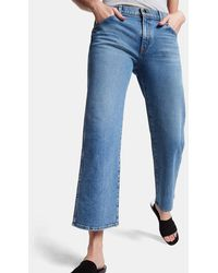 Khaite - Wendall Cropped Wide-leg Jeans - Lyst