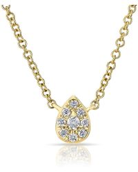 Anne Sisteron 14kt Yellow Diamond Mini Pear Necklace