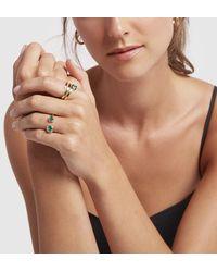 Jemma Wynne Open Emerald Bezel Ring - Multicolor
