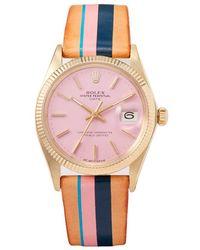 La Californienne - Rolex Oyster Perpetual Solid Gold Watch - Lyst