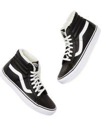49f27da021 Vans - Sk8-hi High-top Fleece Sneakers - Lyst