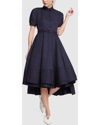 Co. Sateen Blue Dress - Black