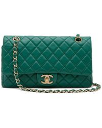 bae51ddbc240 What Goes Around Comes Around - Chanel Green Lambskin 2.55 10