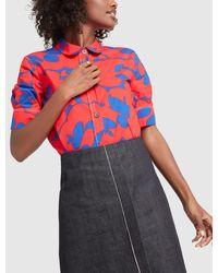 Marni Short-sleeve Polo Neck Shirt - Red