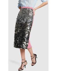 N°21 Sequined Pencil Skirt - Black
