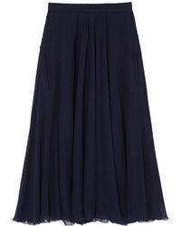 Rochas - Wool Gauze Full Skirt - Lyst