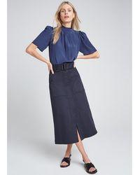 G. Label by goop - Bri Short-sleeve Tie Blouse - Lyst
