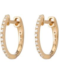 Ariel Gordon Pavé Diamond Huggies Earring - Metallic
