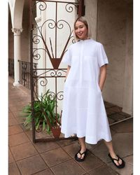 G. Label by goop - Mendoza Dropped-waist Shirtdress - Lyst