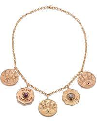 Marlo Laz Talisman 5 Coin Necklace - Metallic