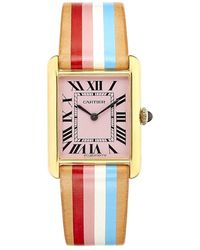 La Californienne Large Venice Cartier Tank Watch - Multicolor