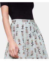 Marni Pleated Printed Skirt - Multicolour